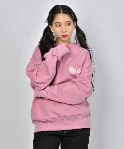 MIDDLE CHERRY PIGMENT WASHING HOODIE