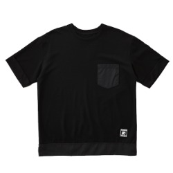 Colored Pocket Short Sleeves Tee- BLACK