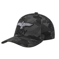 CAMO EAGLE CAP - BLACK