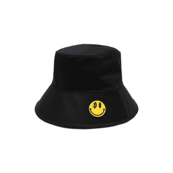韓国ブランド「DXOH」のYELLOW SMILE BUCKET HAT BLACK