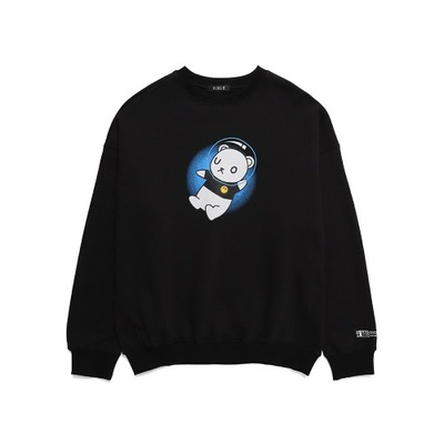 韓国ブランド「DXOH」のUNIVERSE BEAR SWEAT-SHIRT BLACK