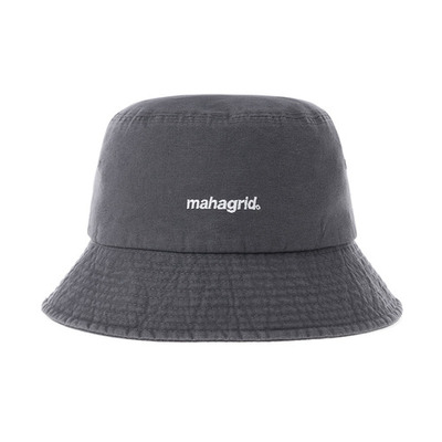 韓国ブランド「mahagrid」のWASHED BUCKET HAT[CHARCOAL]