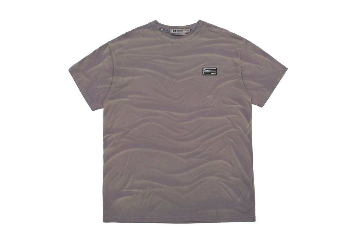 【APPARELXIT】UNISEX APX PATCH WASHING T-SHIRTS CHARCOAL ユニセックスAPXパッチウォッシングTシャツ チャコール