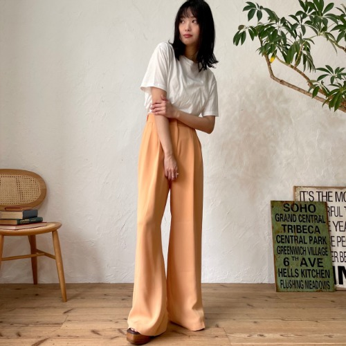 [one have it] pale orange slacks