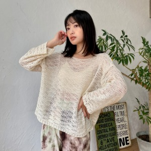 [one have it] mesh knit tops