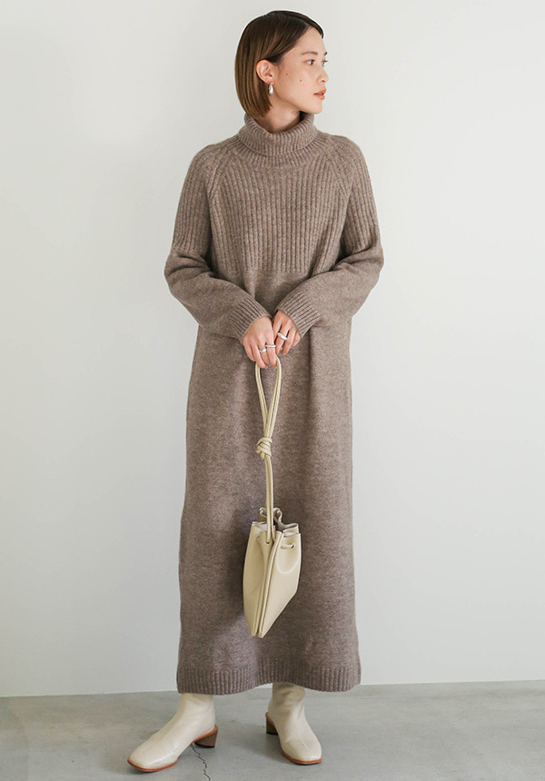 breast rib Knit one-piece【メール便不可】