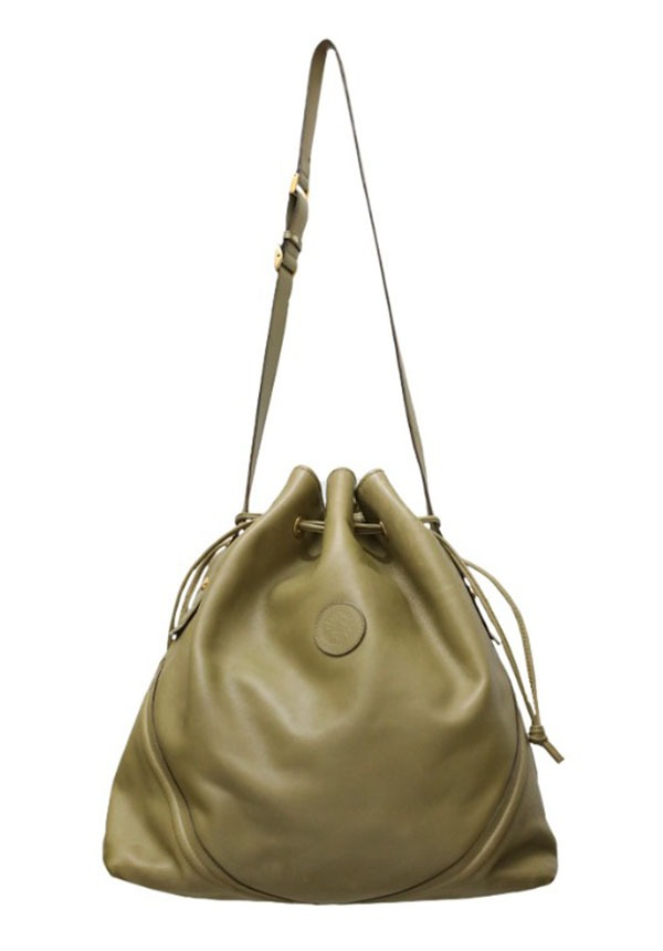 GUCCI/drawstring leather bag