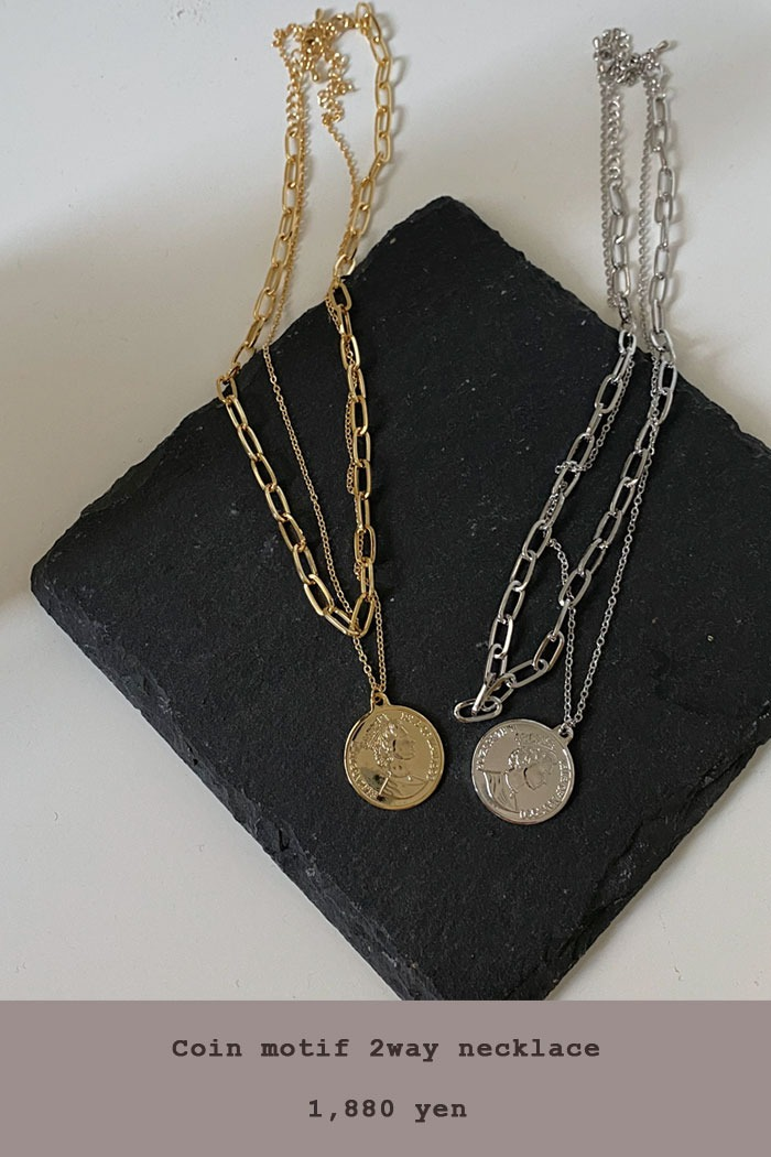 Coin motif 2way necklace[メール便同型2点まで対応]