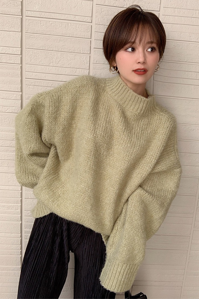 Wool drop roundknit[即納商品]