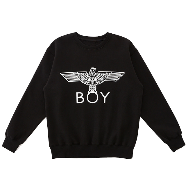 【SALE 20%OFF】SILVER Eagle BOY Brushed Sweatshirt-BLACK-SILVER