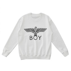 White Eagle BOY Printed Sweatshirt -WHITE