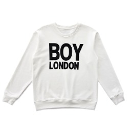【SALE 20%OFF】BOYLONDON Logo Printed Sweatshirt-WHITE