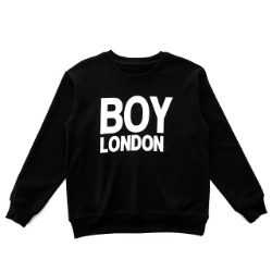 【SALE 20%OFF】BOYLONDON Logo Printed Sweatshirt-BLACK