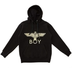 【SALE 20%OFF】BOY Eagle Brushed Hoodie - BLACK-GOLD