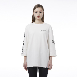 BOY Eagle Oversized T-Shirt - WHITE
