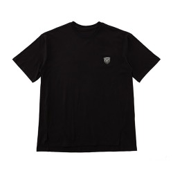 Eagle Printed on Back Short Sleeves Tee- BLACK-SILVER