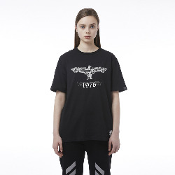 Crop Eagle Shortsleeve T-Shirt - BLACK