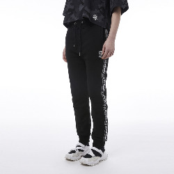 BOY Tape Detailed Side Seam Jogger - BLACK