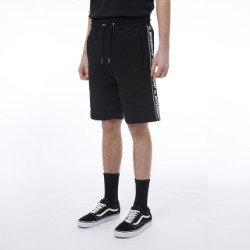 Side Sea Logo Tape Jersery Shorts - BLACK