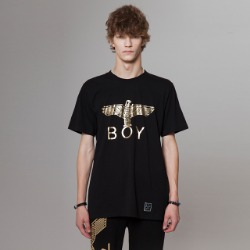 BOY Eagle Printed Short Sleeves Tee- BLACK