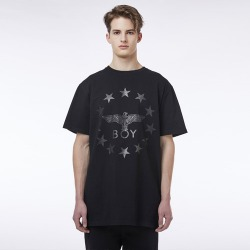 Star Eagle Short Sleeves Tee BLACK