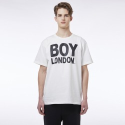 BOYLONDON Logo Short Sleeves Tee WHITE