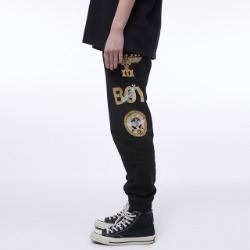 BOY Eagle Artwork Printed Jogger - BLACK