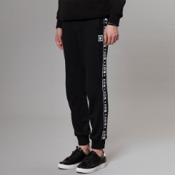 BOY Logo Taped Detailed Jogger - BLACK