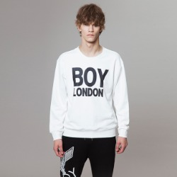 BOYLONDON Logo Printed Sweatshirt-WHITE