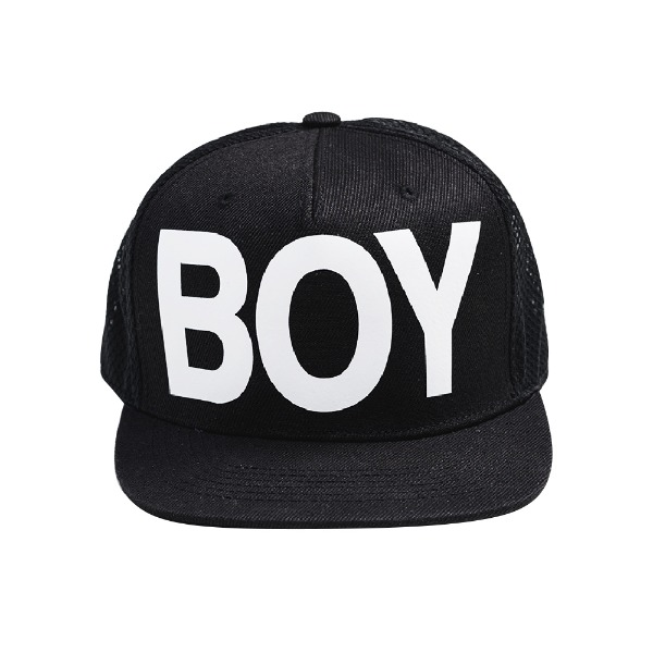 BOY Big Print Heritage Snapback - BLACK