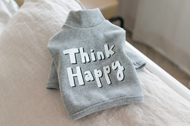 Think Happy Tee / Grey