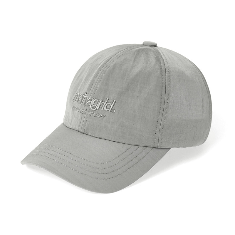 韓国ブランド「mahagrid」のTHIRD LOGO NYLON METAL CAP[GREY]