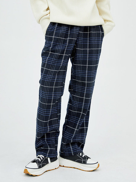韓国ブランド「OPEN THE DOOR」のcheck banding straight pants (2 color) - men