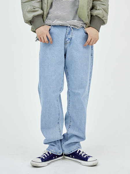 韓国ブランド「OPEN THE DOOR」のstraight-fit cozy denim pants - men