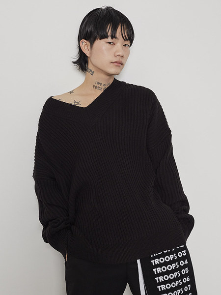韓国ブランド「OPEN THE DOOR」のloose v-neck golgi knit (5 color) - men