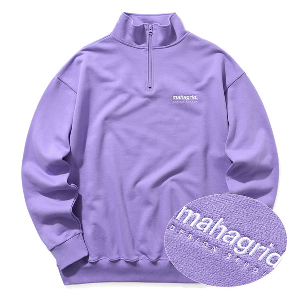 韓国ブランド「mahagrid」のHALF ZIP SWEAT SHIRTS[PURPLE]