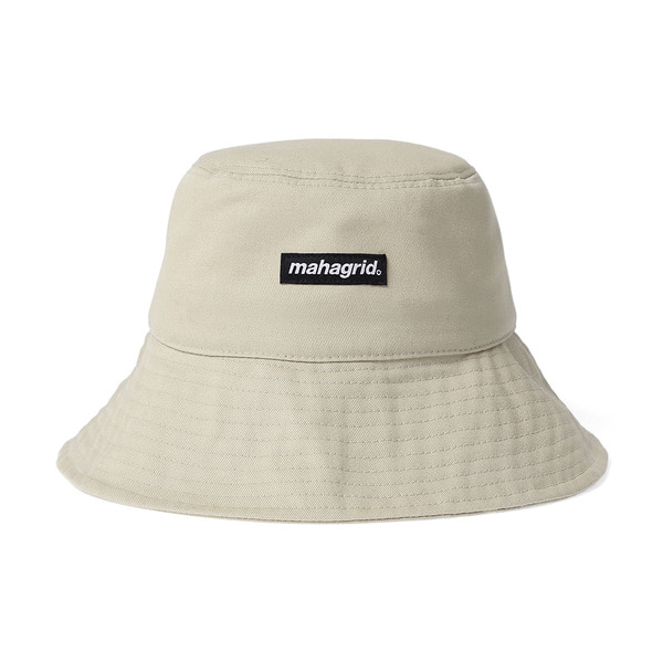 韓国ブランド「mahagrid」のBASIC LOGO BUCKET HAT[BEIGE]