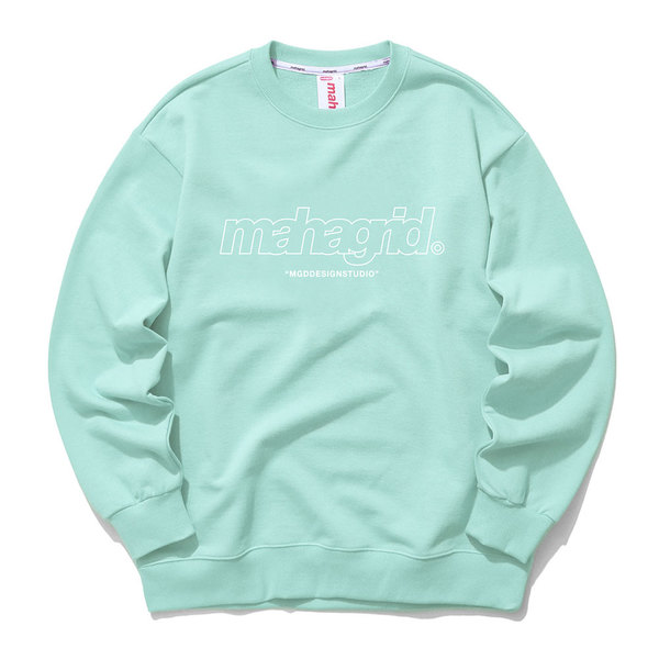 韓国ブランド「mahagrid」のTHIRD LOGO CREWNECK[MINT]
