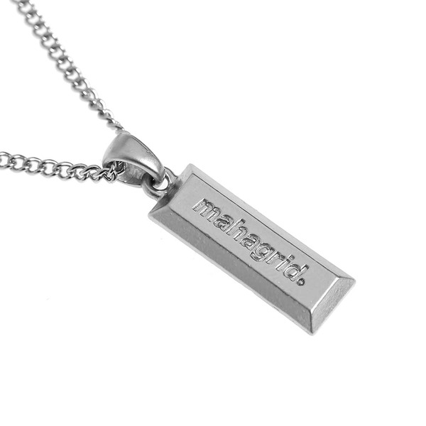 韓国ブランド「mahagrid」のSILVER BAR NECKLACE[SILVER]