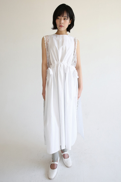 韓国ブランド「moaoL」のlayer crispy shirring dress (3colors)