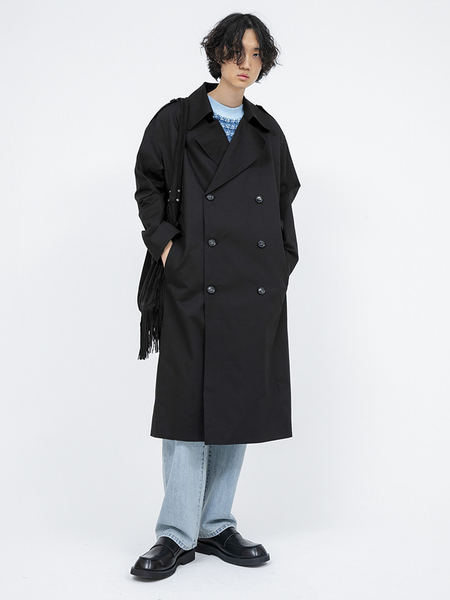 韓国ブランド「OPEN THE DOOR」のwearable double trench coat (3 color) - men
