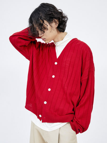 韓国ブランド「OPEN THE DOOR」のlambswool golgi cardigan (5 color) - men