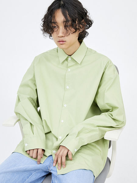 韓国ブランド「OPEN THE DOOR」のover-fit daily shirts (7 color) - men