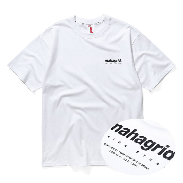 韓国ブランド「mahagrid」の★MORUGI×YouTuber★ORIGIN LOGO TEE[WHITE]