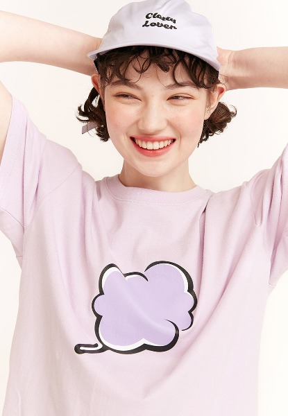 韓国ブランド「CLOTTY」のBIG CC T-SHIRT[PURPLE]