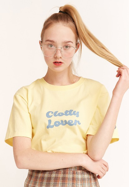韓国ブランド「CLOTTY」のCLOVER T-SHIRT[YELLOW]