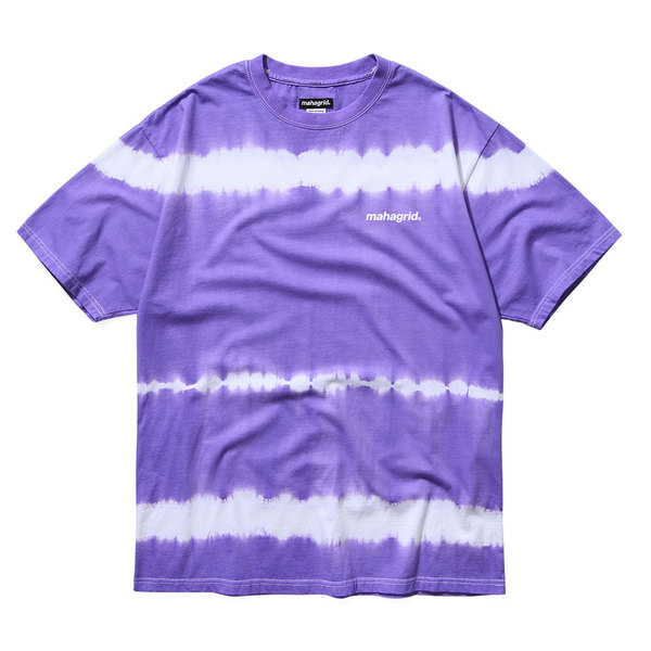 韓国ブランド「mahagrid」のTIEDYE STRIPED TEE[PURPLE]