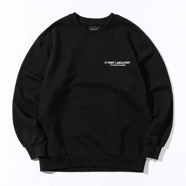 韓国ブランド「PRIMAUTER」のPM LOGO Sweatshirts (Black)