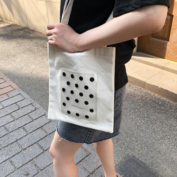 韓国ブランド「LYDIA」のclear dot eco bag