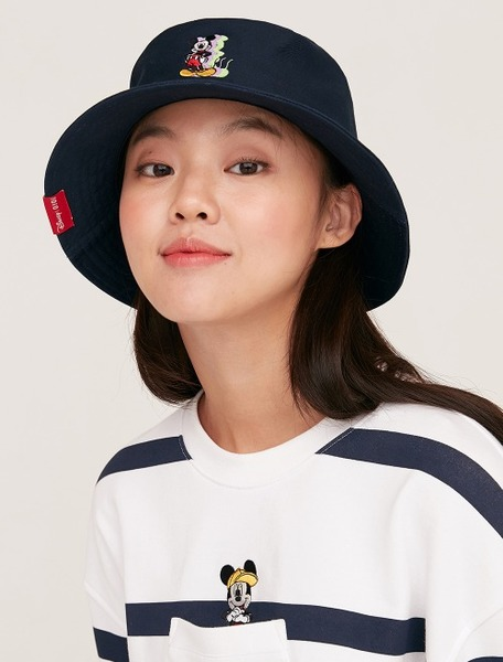 韓国ブランド「5252 by oioi」のBUCKET HAT / SHADOW MICKEY MOUSE_navy